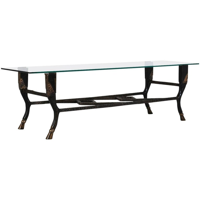Christopher Chodoff Bronze And Glass Coffee Table For Sale At 1stdibs