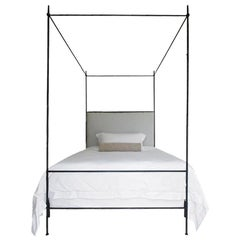 Louis XVI Iron Upholstered Canopy Bed
