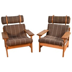 Pair of Danish Mid-Century Lounge Chairs by Aksel Dahl for K.P. Møbler, 1972