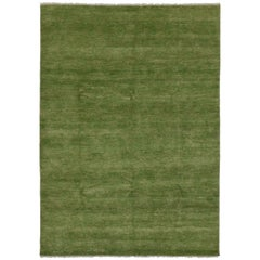 New Transitional Green Area Rug with Modern Style