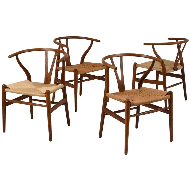 Set of Four Midcentury Danish Dining Chairs For Sale