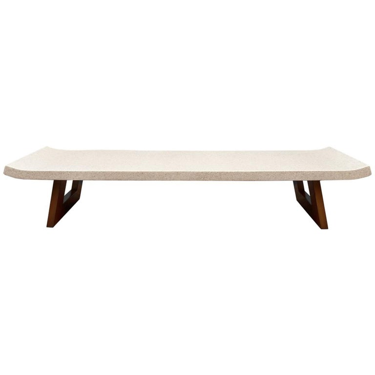 Paul Frankl Cork Top Coffee Table Or Bench For Sale At 1stdibs