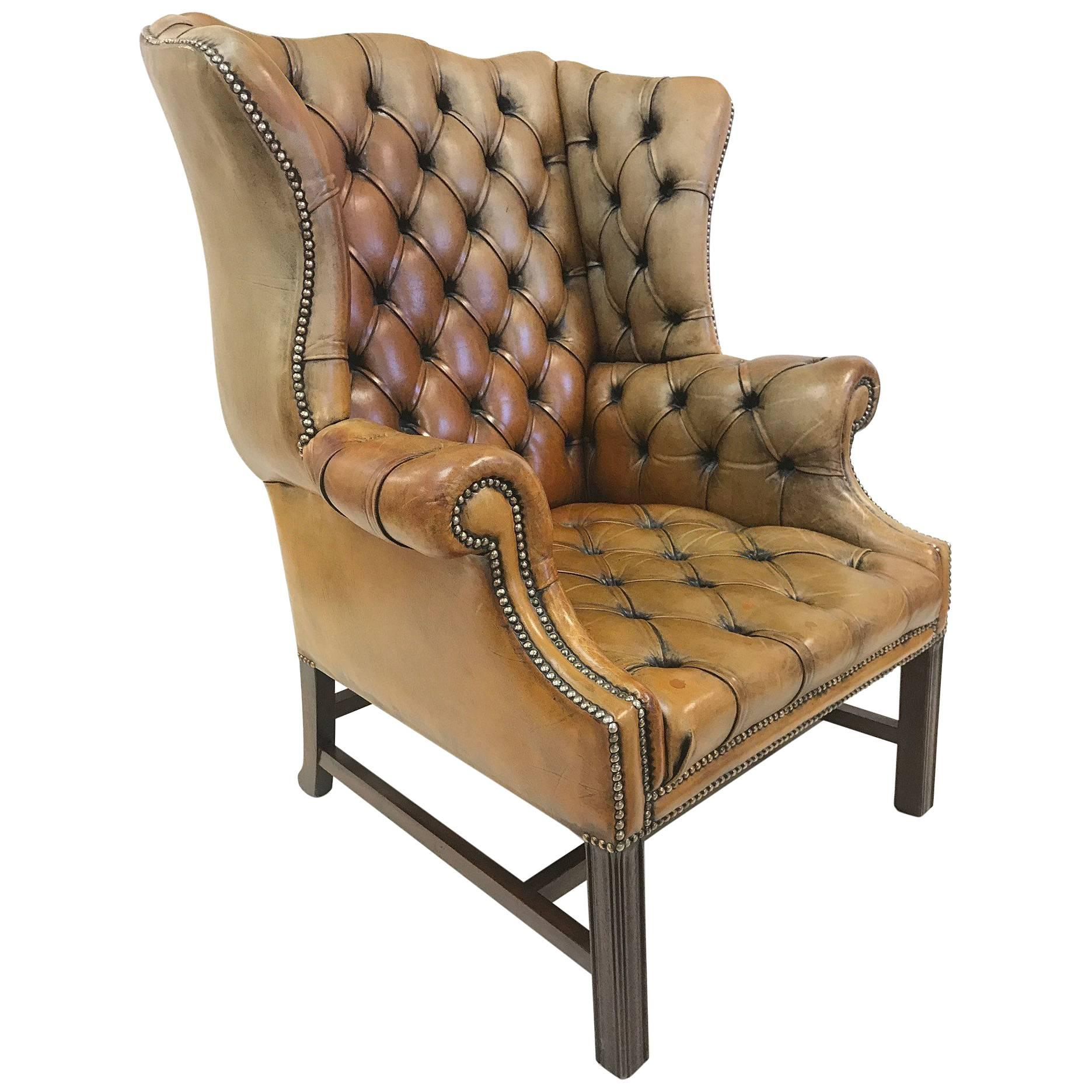 Chippendale Wingback Chairs 23 For Sale at 1stdibs