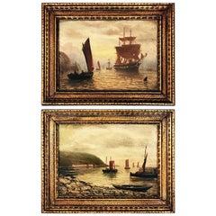 Pair of 19th Century Oil Paintings Signed by Bernard Benedict Hemy