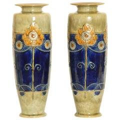 Art Nouveau Royal Doulton Stoneware Vases