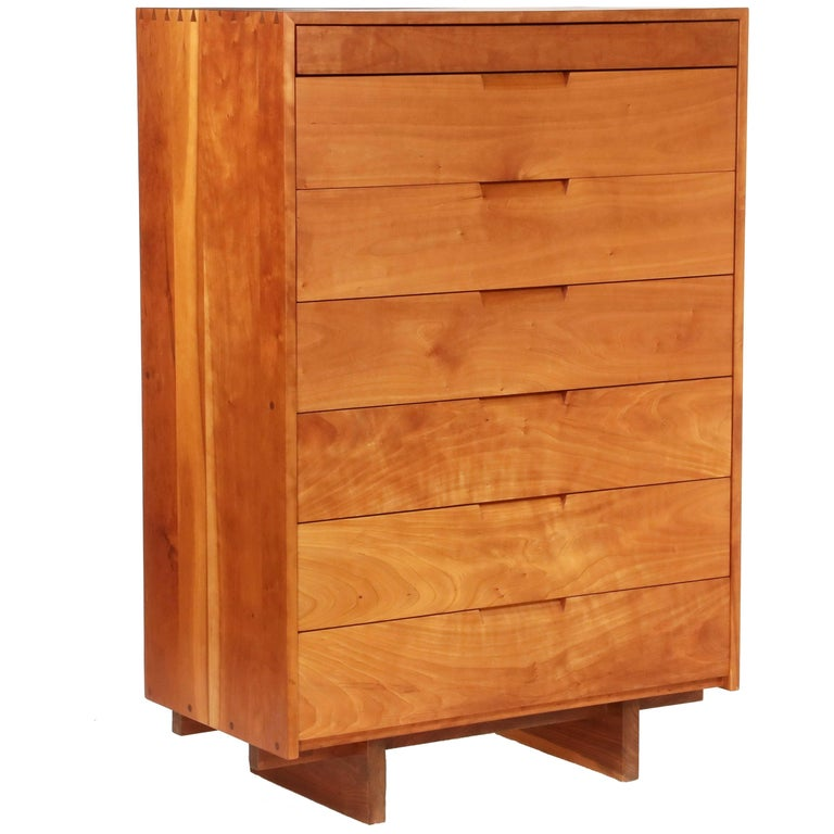 Tall Cherry Chest by George Nakashima For Sale