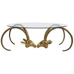 Ram's Head Ibex Table in the Style of Alain Chervet