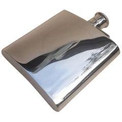 Fine Quality Vintage Silver Hip Flask by Mappin & Webb Ltd, 1987