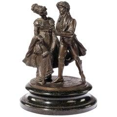 Pair of Late 19th Century German Bronze Figures Signed H. Goeschl München