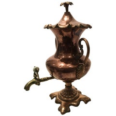 Stunning Antique English Copper Samovar