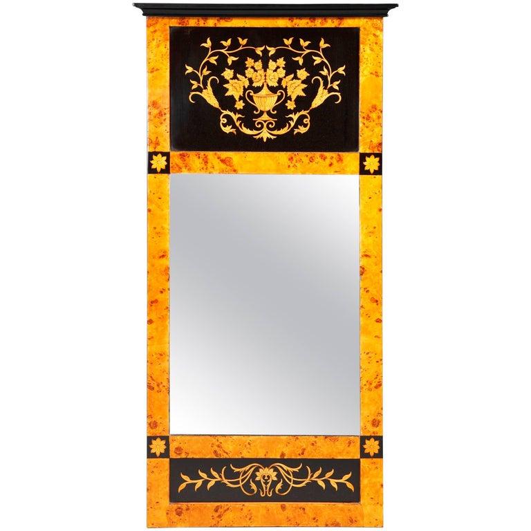 20th Century Biedermeier Style Mirror For Sale