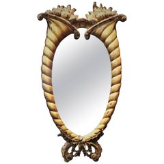 French Belle Époque Mirror in Hand-Carved Gilded Wood Frame, circa 1875-1914