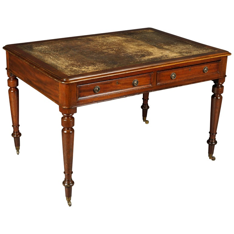 19th Century Victorian Double  Writing Desk or Partner Desk