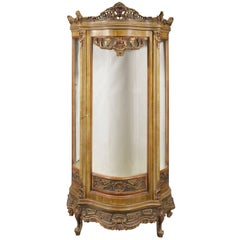 20th Century Louis XV Style Bowed Vitrine