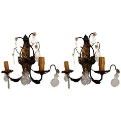 1940s French Wall Sconces