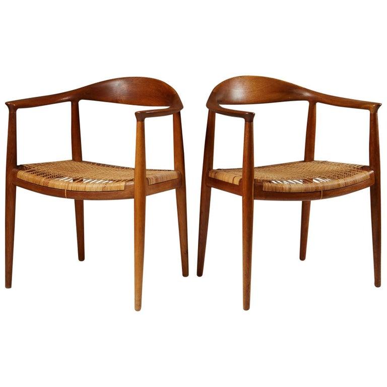 "Pair of Armchairs ""The Chair"" Designed by Hans J. Wegner, Denmark, 1949"