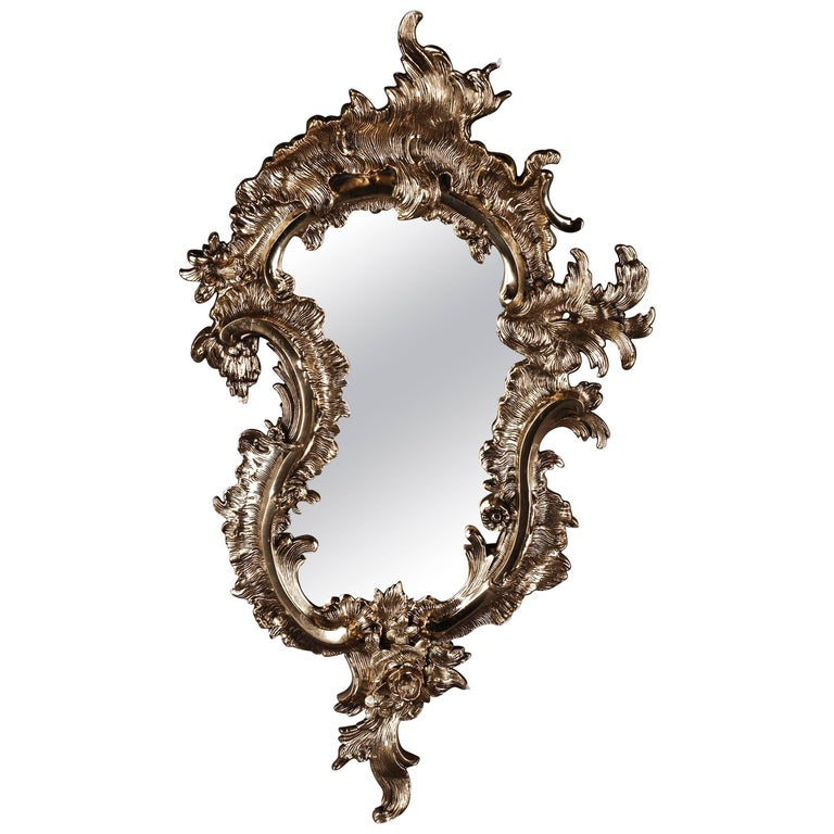 20th Century Rococo Style Rocaille-Formed Wall Mirror For Sale