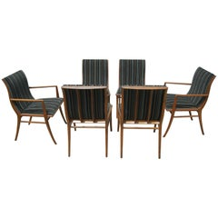 Set of Six Saber-Leg Dining Chairs by T.H. Robsjohn-Gibbings for Widdicomb