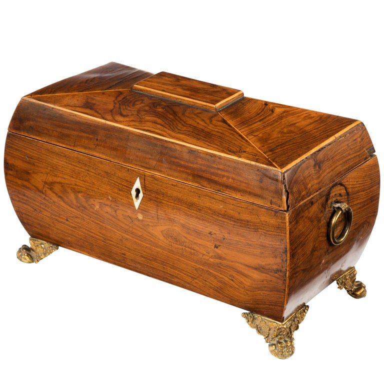 Regency Period Sarcophagus Shaped Tea Caddy