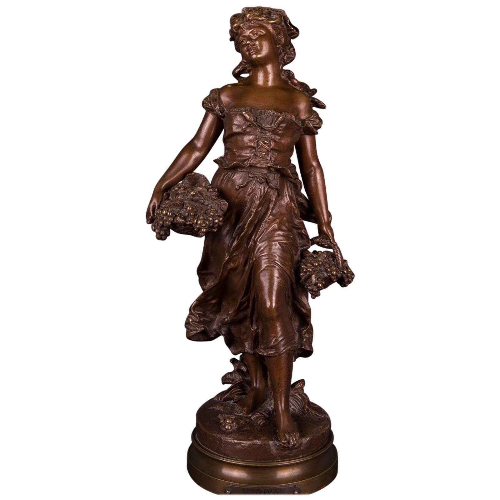 19th Century Bronze Sculpture by Mathurin Moreau, Automne, Autumn