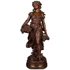 19th Century Bronze Sculpture by Mathurin Moreau, Automne, Autumn