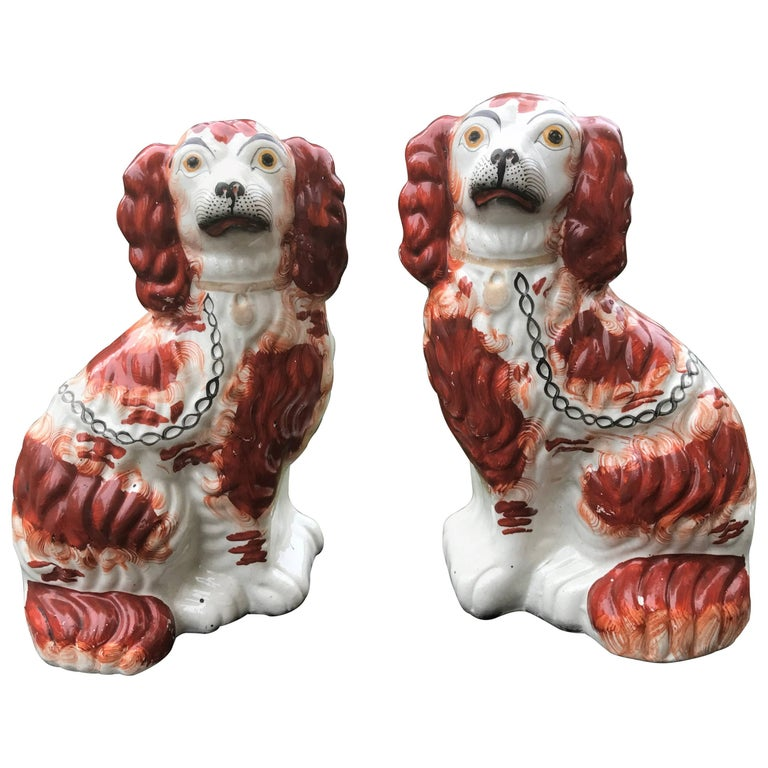 Pair of English Staffordshire Spaniels For Sale