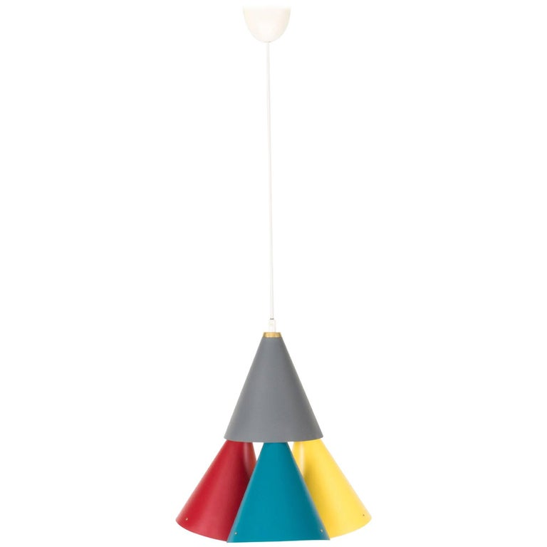 Multicolored Pendant Lamp by Svend Aage Holm Sorensen