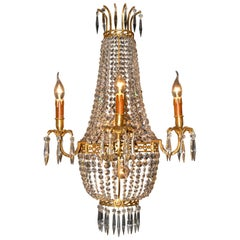20th Century Empire Style Basket Wall Light