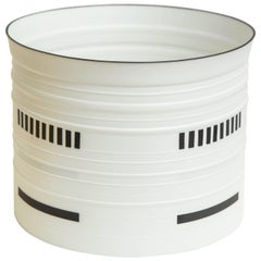 Stepped Porcelain Cylinder in Black and White by Bodil Manz, 2017