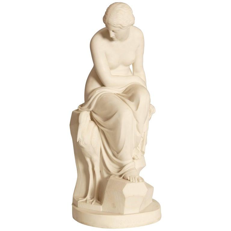 Minton Art Union Parian Figure, 'Solitude' by J. Lawlor, 1852
