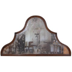 Italian, Genovese, Walnut Wall Mirror in the Queen Anne Style, 18th Century