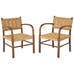 Pair of Scandinavian Woven Armchairs