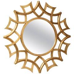 Unique Giltwood Mirror with Openwork Design