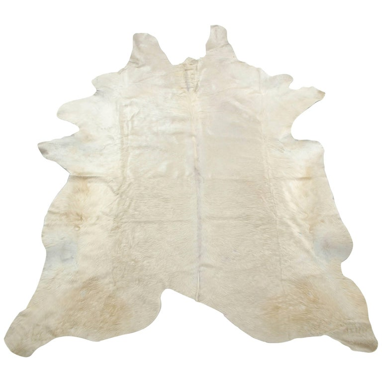 Cow Hide Rug, White 1