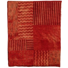 Indian Quilted Cotton Bedcover, Red
