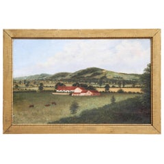 1892, British Country Scene Oil on Canvas