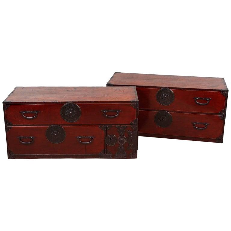 Antique Double Tansu For Sale