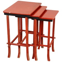 Chinoiserie Lacquered Nesting Tables