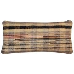 Vintage American Woven Rag Pillow