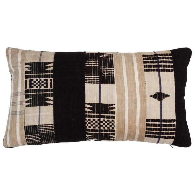 Vintage African Ashante Lumbar Pillow 1