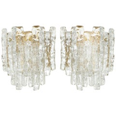 Ice Glass Sconces by Kalmar