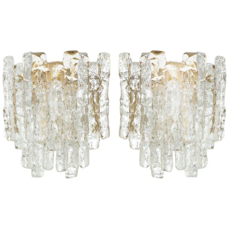 Ice Glass Sconces by Kalmar
