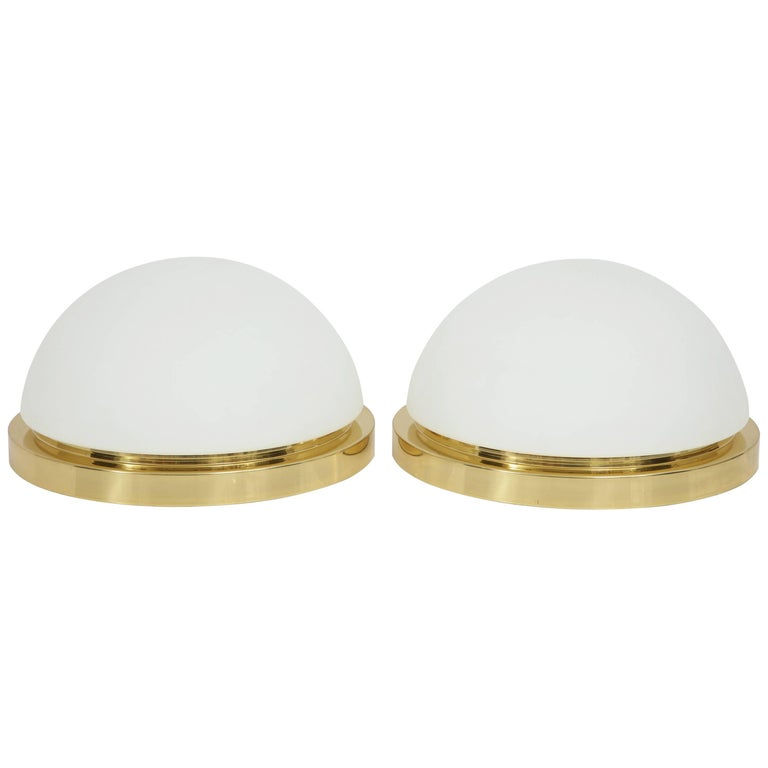 Extra Large Flush Mount Fixtures or Sconces by Limburg For Sale