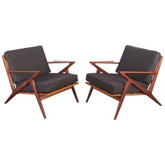 """Pair of Poul Jensen """"Z"""" Chairs for Selig"""
