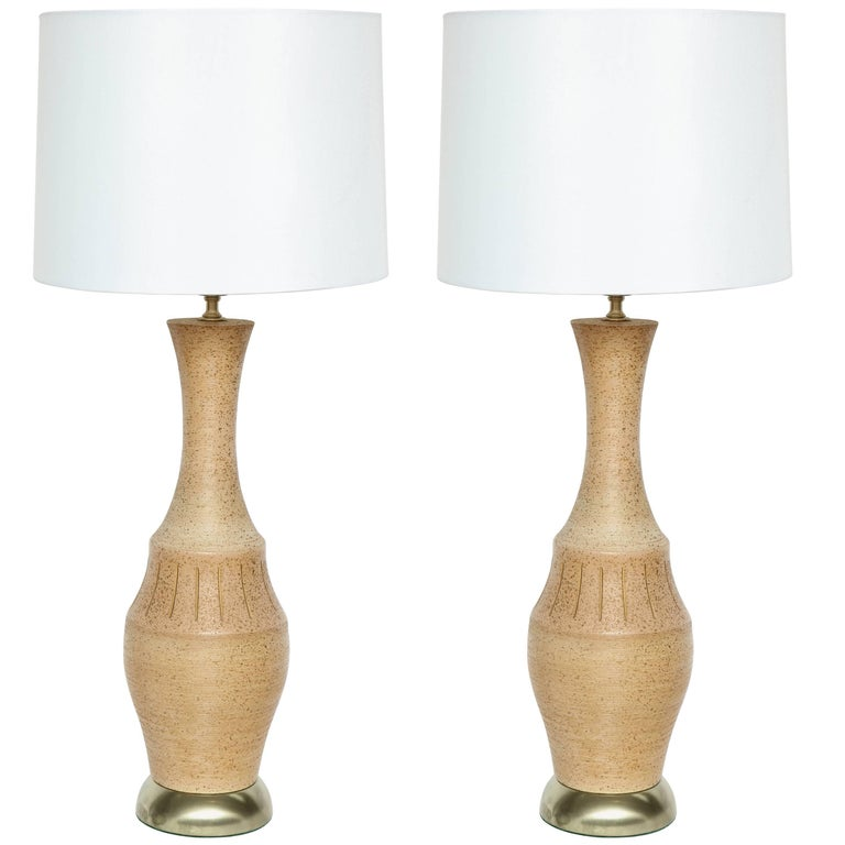 Italian Terra Cotta Glazed Lamps