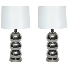 George Kovacs Stacked Gunmetal Ball Lamps