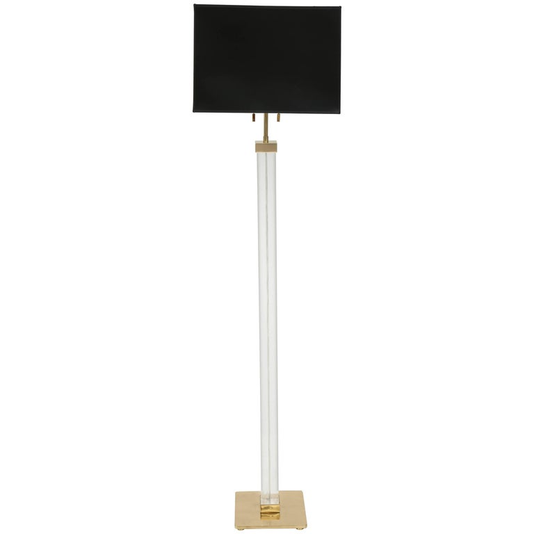 Karl Springer Lucite Floor Lamp