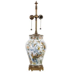 French Chinoiserie Decalcomanie Lamp