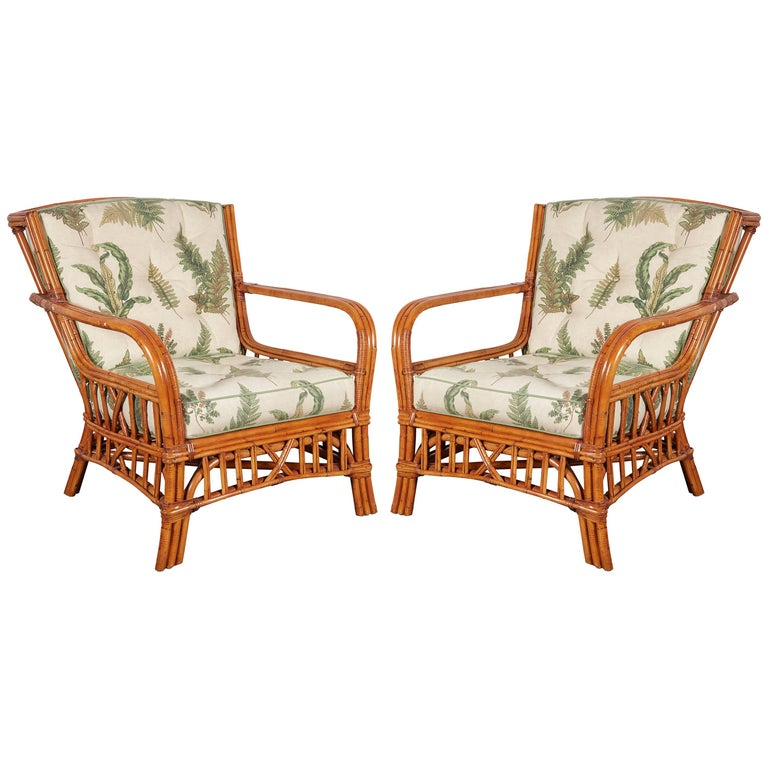 Wicker Sofa For Sale Uk: Pair Of Walters Wicker Viscaya Rattan Armchairs For Sale