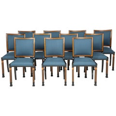 Set of 11 Swedish Grace Side Chairs by Erik Chambert, circa 1930-1940